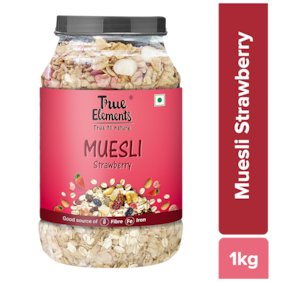 True Elements Strawberry Muesli 1000 g