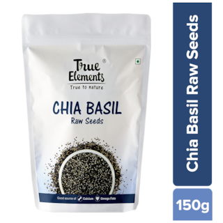 True Elements Raw Chia Basil Seeds 150g