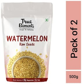 True Elements Raw Watermelon Seeds 250g each (pack of 2)