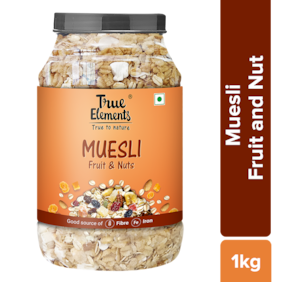 True Elements Fruit And Nut Muesli 1000 g