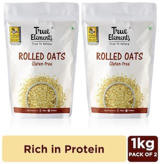True Elements Rolled oats Gluten Free 1000 g Each (Pack of 2)
