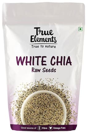True Elements Raw White Chia Seeds 250g each (pack of 2)