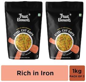 True Elements Steel Cut Oats Gluten Free 1000 g Each (Pack of 2)