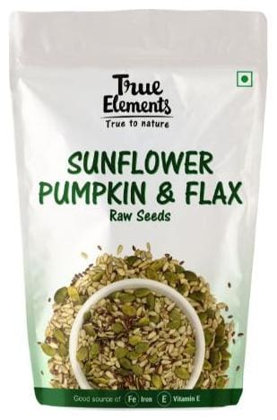 True Elements Raw Sunflower Pumpkin And Flax Seeds 150g