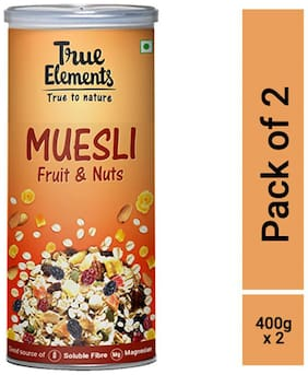 True Elements Fruit and Nut Muesli (400gm* Pack of 2)