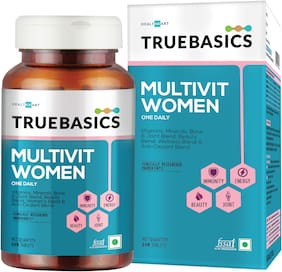 TrueBasics Multivit Women One Daily;Multivitamins;Multiminerals;Anti-Oxidants 90Capsules