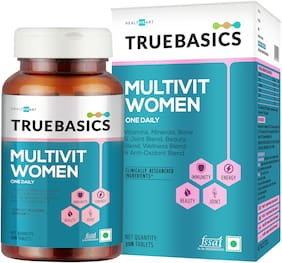 TrueBasics Multivit Women One Daily;Multivitamins;Multiminerals;Anti-Oxidants;with Bone;Joint & Beauty Blend;Clinically Researched Ingredients;30 Tablets