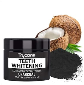 Trycone Teeth Whitening Activated Coconut Shell Powder 100% Natural 50g