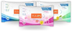 Tulips Refreshing Wet Wipes in 3 Different Fragrances (Japanese Cherry Magnolia & Summer Fresh) Dermatologically Tested , Safe on Sensitive Skin (Pack of 3)(20 pcs each)