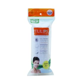 Tulips Round Facial Cotton Pads 50 pcs (Pack of 4)