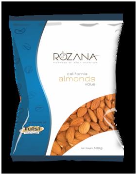 Tulsi Rozana California Almonds Value 500g