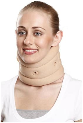 Tynor Soft Cervical Collar with Support - Small Neck Support (S, Beige)