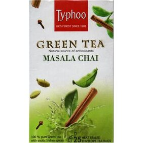 Typhoo Green Tea Masala 25 Tea Bags(Pack Of 2)