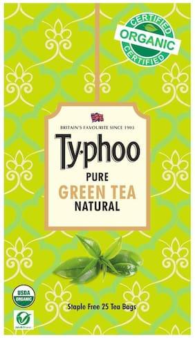 Typhoo Pure Natural Green Tea - 25 TeaBags ( Pack of 1 )