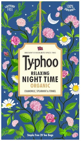 Typhoo Relaxing Organic Night Time Herbal Infusion 20 TeaBags (Pack Of 1)