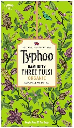 Typhoo Three Tulsi ( Ram,Van and Krishna Tulsi ) 20 TeaBags ( Pack of 1)