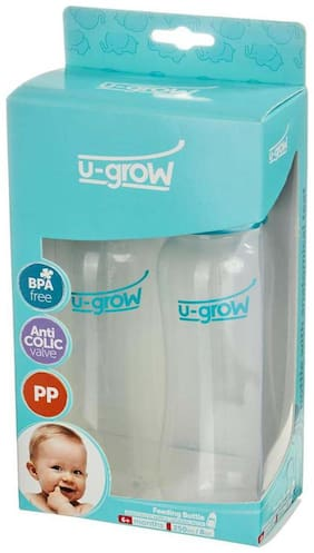 U-Grow Baby Feeding Bottle Normal Neck Pack of 2 - 250 ml