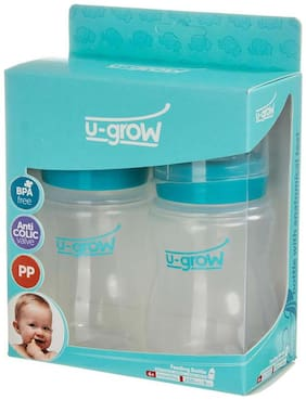 U-Grow Baby Feeding Bottle Wide Neck Pack of 2 - 250 ml