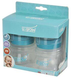 U-Grow Baby Feeding Bottle Wide Neck Pack of 2 - 125 ml