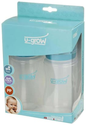 U-Grow Baby Feeding Bottle Wide Neck Pack of 2 - 330 ml
