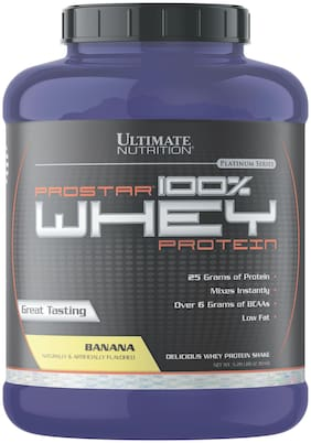 Ultimate Nutrition Prostar 100% Whey Protein 5.28lbs 2.39kg Banana