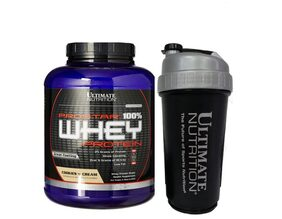 Ultimate Nutrition Cookies & Cream Prostar 100% Whey Protein 2.39 kg (Free 1 Sipper)