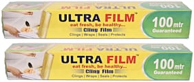Ultra Film 100 Mtr Cling Film (Pack Of 2)