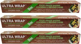 ULTRA WRAP 9 Meter (Pack of 3) Baking/ Parchment Paper
