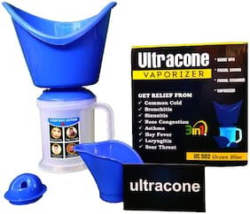 Ultracone Vaporizer Steamer 3 In 1 For Deep Face Cleaning Respiratory Relief (Pack Of 1)