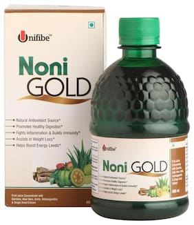Unifibe Noni Gold, Juice Concentrate   400 ml (With Garcinia, Aloe Vera, Amla, Ashwagandha & Grape Seed Extract) Immunity/Immunity Booster