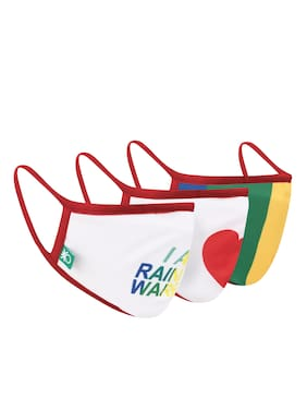 United Colors Of Benetton Reusable 3 Layer Outdoor Face Mask For Kids (Pack Of 3)