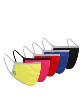 United Colors Of Benetton Reusable 3 Layer Outdoor Face Mask For Unisex (Pack Of 5)