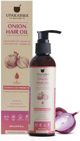 Upakarma Onion Black Seed Hair Oil With 12 Essential Oils 200ml