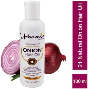 Urbaano Herbal Onion Extract hair oil for Hair Fall Control 100 ml