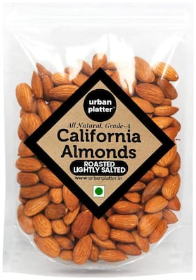 Urban Platter All Natural and Grade-A California Almonds Roasted Lightly Salted 1 kg