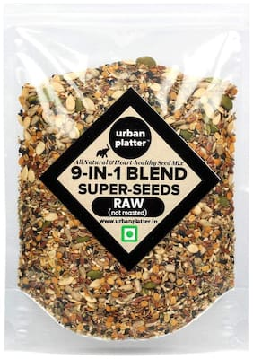 Urban Platter Nine-in-1 Raw Seeds Blend, 400g [All Natural, Heart Healthy Seed Mix]