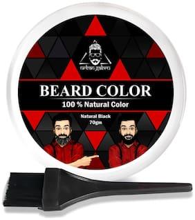 UrbanGabru Beard Color For Men Black 100% Natural Heena Powder Free Applicator Brush