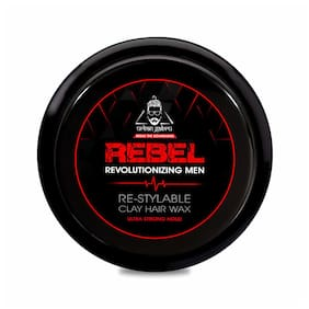 Urbangabru Rebel Clay Hair Wax for Instant Re-Styling & Ultra Strong Hold with keratin (safe & natural) 85g (Pack Of 1)