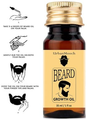 UrbanMooch 100% Natural Beard Growth Oil- For Stimulating fast Beard Growth Hair Oil (35 ml)