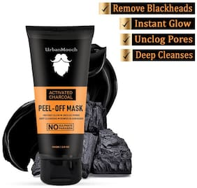 UrbanMooch New & Improved Charcoal Peel Off Mask with Vitamin C for Instant Glow, Blackheads Removal & for Deep Cleansing 60 g Pack of 1