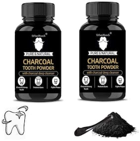 UrbanMooch Natural & Organic Activated Charcoal Tooth Whitening Powder 20g (Pack of 2)