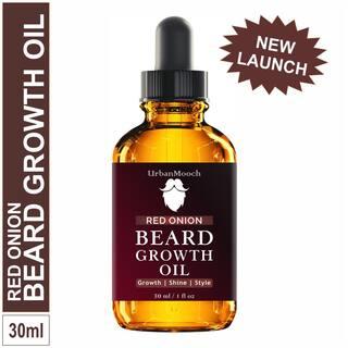 UrbanMooch Red Onion Beard Growth Oil Hair Oil (30 ml)