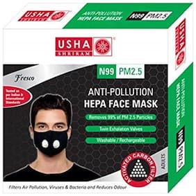 Usha Shriram FRESCO N99 PM2.5 HEPA Anti Pollution Face Mask (Pack of 1)