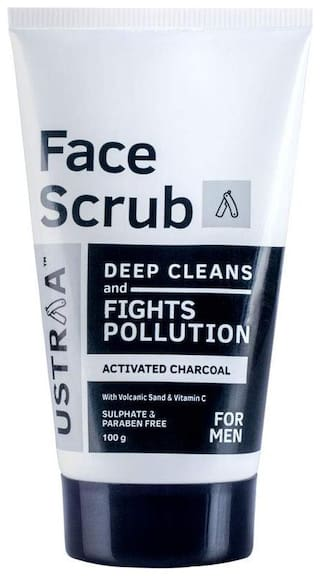 Ustraa Activated Charcoal Face Scrub - 100Gm