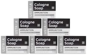 Ustraa Ammunition Cologne Soap With Charcoal & Bay Leaf 125 gm (Pack of 6)