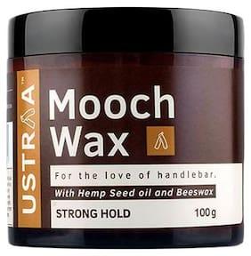 USTRAA Beard & Mooch Wax - Strong Hold For Hair Styling 100 gm