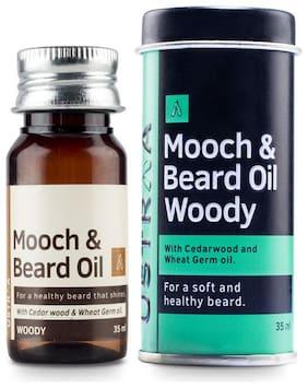 Ustraa Beard & Mooch Oil Woody Pack of 2
