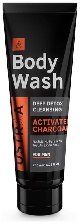 Ustraa Body Wash - Activated Charcoal - 200 ml