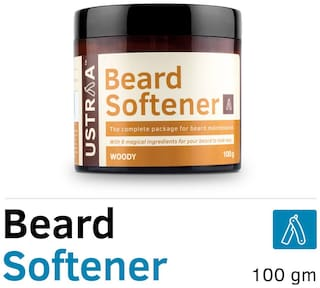 USTRAA Beard Softener - 100g - Softens and nourishes your beard without Sulphates or Parabens, Long lasting moisturization and shine for a nourished, itch-free beard