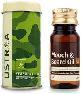 USTRAA By Happily Unmarried Mooch And Beard Oil 4X4 - 35 ml